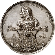 Medal 1685 on the execution of James Scott and Archibald Campbell after the suppression of the Monmouth Rebellion, which tried to prevent the Catholic James from ascending to the throne. From Künker sale 292 (16 March 2017), No 5695.