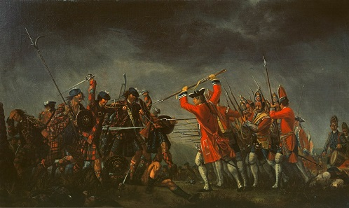 The Battle of Culloden. Painting by David Morier, 1746.
