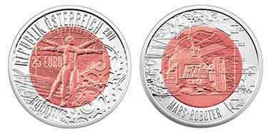 Österreich. 25 Euro - Ring 9 g 900 Ar; Kern 6,5 g Niob - 34 mm - 65.000 in handgehoben - Designer: H. Andexlinger / Th. Pesendorfer - Ausgabetag: 16. März 2011 - Münze Österreich AG
