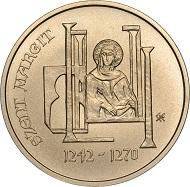 Hungary / 2000 HUF / Cu75Ni4Zn21 / 4.2 g / 22.0 mm / Design: Enikö Szöllössy / Mintage: 5,000.