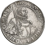 Nr. 83: Niederlande. Geldern. Reichstaler o. J. (1583). Äußerst selten Taxe: 5.000,- Euro. Zuschlag: 16.000,- Euro.