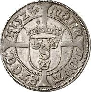 Nr. 115: Schweden. Gustav Vasa. 1/2 Gyllen 1523, Stockholm. Unikum. Vorzüglich. Taxe: 30.000,- Euro. Zuschlag: 55.000,- Euro.