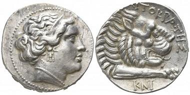 Los 41: Karien. Knidos. Tetradrachme, circa 375-340 v. Chr. Startpreis: 5.000 EUR.