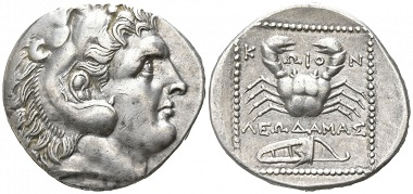 Los 46: Inseln vor Karien. Kos. Tetradrachme, circa 285-258 v. Chr. Startpreis: 1.250 EUR.