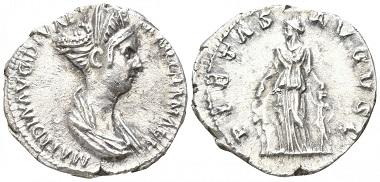 Los 69: Römische Kaiserzeit. Matidia. Denar, 113-114, Rom. Startpreis: 1.000 EUR.