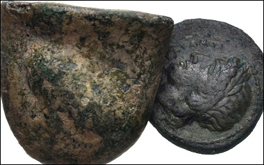 Lot 660: Greek. Magna Graecia & Sicily. Lot of two (2) Sicilian of Akragas. Fine and VF. Estimate: 150 USD.