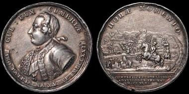 Lot 164: Scotland. The Battle of Culloden. AR medal. Good Very Fine. Estimate: 350 USD.
