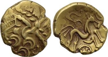 Los 1: England. Atrebates. Stater, circa 55-45 v. Chr. Fast sehr schön. Schätzpreis: 500 EUR.
