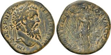 Los 611: Pertinax (193). Sesterz, Rom. Fast sehr schön. Schätzpreis: 1.000 EUR.