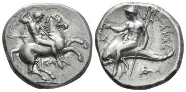 Lot 8: Calabria, Tarentum. Nomos, circa 315-305. Good very fine. Starting Bid: 120 GBP.