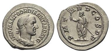 Los 308: Gordianus I. Africanus, 238 n. Chr. Denar, 238 n. Chr., Rom.