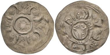 Los 430: Andechs-Meranien. Anonym. Dünnpfennig, ca. 1170/80, Brixen.