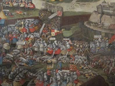 The Battle of Pavia. Painting by an anonymous master, probably from the southern Netherlands. The Ashmolean Museum / Oxford. Image: Ursula Kampmann.