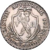 Appenzell Ausserrhoden. Neutaler zu 4 Franken 1812. Foto: © Rapp.
