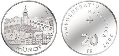Switzerland. Commemorative coin 2007. Photo: Swissmint.
