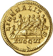 Lot 541: Septimius Severus, 193-211. Aureus, 209, Rome. From the collection of a Munich-based doctor. Extremely fine to FDC. Estimate: 20,000,- euros. Hammer price: 25,000,- euros.