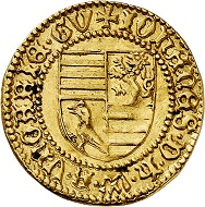 Lot 3821: Hungary. John Hunyadi, 1446-1462. Gold gulden no date. Extremely rare. Extremely fine to mint state. Estimate: 6,500,- euros. Hammer price: 20,000,- euros.