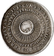 Lot 3888: Hungary. Medal in the weight of 1 1/2 talers 1648 on the yield of the Schemnitz Mine. Extremely fine. Estimate: 1,000,- euros. Hammer price: 9,500,- euros.