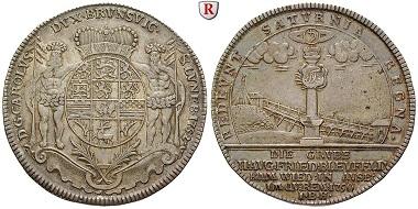 Altdeutschland. Braunschweig. Karl, 1735-1780. Reichstaler 1752. Zellerfeld IBH. Vorzüglich. 1.800 EUR.