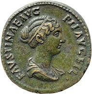 So wollte Antoninus Pius (147-161), dass seine Tochter Faustina II. vom Volk gesehen wurde.