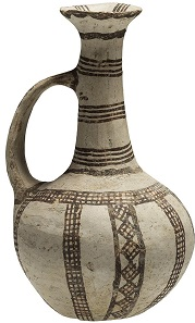 Lot 55: Cypriot Base Ring Jug, ca. 1500-1200 BC. From the Cesnola Collection.