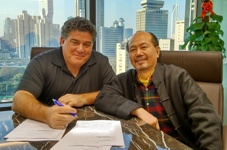 Steven R. Eichenbaum, CEO of NGC, and Chen Gi Mao at NGC Shanghai's Office.