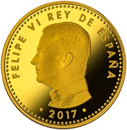 Spain / 100 Euros / Gold .999 / 6.75g / 23mm / Mintage: 3000.