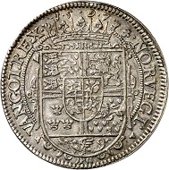Lot 4070: Denmark. Christian IV, 1588-1648. Speciedaler 1597, Copenhagen. From Christensen Coll. Very rare. Very fine. Estimate: 7,500,- euros. Hammer price: 12,000,- euros.