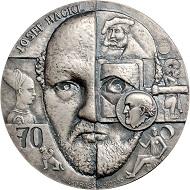 Eine Medaille des finnischen Medailleurs Kauko Räsänen. Foto: Nicolai Kästner.