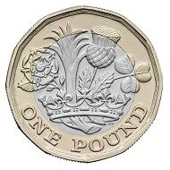 The new British 1 Pound Coin.