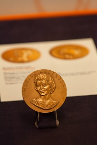 Medal honoring Marian Anderson, the first black person ever to perform at the Metropolitan Opera in New York City. Photo: © Alan Barnett.