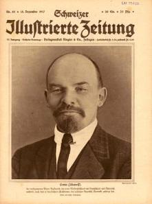 Die Schweizer Behörden schenkten den russischen Emigranten wenig Beachtung. Erst nach der Oktoberrevolution wird die Bedeutung Lenins wahrgenommen. Schweizer Illustrierte Zeitung, Nr. 50, 15.12.1917. Foto: © Schweizerisches Nationalmuseum.