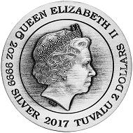 Tuvalu / 2 TVD / Silver .9999 / 2oz / 40.60 mm / Design: Inq Inq Jonq / Mintage: 2,000.