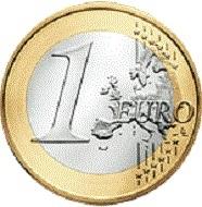 The Irish 1-euro coin. Photo: EZB.