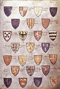 The Wijnbergen Roll, an armorial from the High Middle Ages.