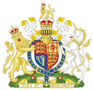 Coat of arms of the United Kingdom of Great Britain and Northern Ireland. Source: Wikipedia / Sodocan. CC-BY 3.0.