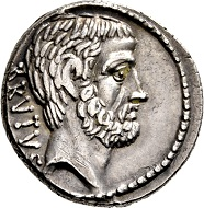 Lot 356: Roman Republic. M. Iunius Brutus. Denarius, 54 BC, Rome. Extremely fine.
