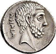 Los 356: Römische Republik. M. Iunius Brutus. Denar, 54 v. Chr., Rom. Cr. 433, 2. Syd. 907. Feine Tönung, prächtige Köpfe. Vorzüglich.