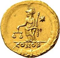 Los 683: Marcianus. Semissis 450/457, Konstantinopel. Aus Slg. P. Fischer, Aarburg. Vorzüglich.