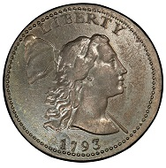 USA. Liberty Cap Cent 1793. Sheldon-13. Liberty Cap. Rarity-4-. About Uncirculated-58 (PCGS). Realized: 940,000 USD.