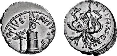 Los 354: Bürgerkriege. Sextus Pompeius. Sizilien. Denar. 42-40 v. Chr. Taxe: 3.500 EUR.