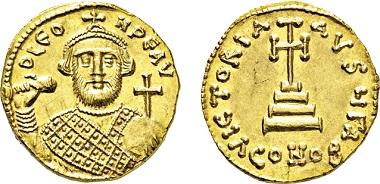 Los 788: Byzanz. Leontius. 695-698 n. Chr. Solidus. Taxe: 5.500 EUR.