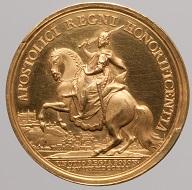 Maria Theresia. Medaille auf die Krönung zum