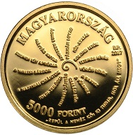 Hungary / 5000 HUF / Gold .999 / 0.5g / 11mm / Design: Vilmos Király / Mintage: 5,000.