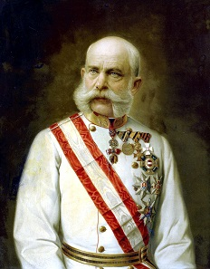 Portrait of Franz Joseph, ca. 1910. Oil painting of an anonymous artist. Bundesmobilienverwaltung.