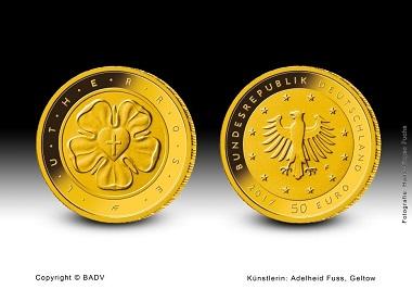 Die neue 50-Euro-Goldmünze