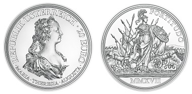 Österreich / 20 Euro / Silber .925 / 22,42 g / 34 mm / Design: Helmut Andexlinger und Herbert Wähner / Auflage: 30.000.