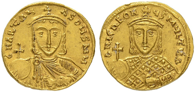 Lot 318: Solidus of Artavasdus. Extremely rare. Extremely fine. 30,000 CHF.