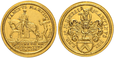 Lot 3123: Germany. Nurnberg. Gold medal 1593. Extremely fine. 20,000 CHF.