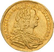 Haus Habsburg. Franz I. 1745-1765. 5 Dukaten 1745 AS/I-E, Wien. Äußerst selten. Sehr schön.